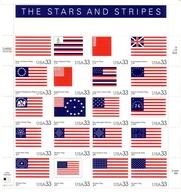 USA MI-NR. 3313-3332 POSTFRISCH(MINT) KLEINBOGEN FLAGGEN - Hojas Bloque