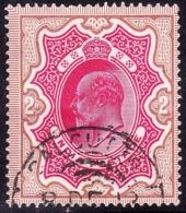 INDIA 1902 KEDVII 2 Rupee Carmine & Yellow-Brown SG139 Used - 1902-11 King Edward VII