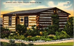 North Dakota Bismarck Roosevelt Cabin On Capitol Grounds 1944 - Bismark