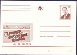 Belgien Belgium Belgique - Postkarte Neuheiten-Abo (MiNr: P510III) 1994 - Ungebraucht - Cartes Postales [1951-..]