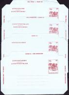 Belgien Belgium Belgique - Luftpostfaltbrief BELGICA'82 (MiNr: LF20I-IV) 1982 - Ungebraucht - Stamped Stationery