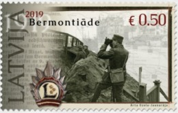 Latvia Lettland Lettonie 2019  Century Since The Liberation Of Latvia From The Bermondt - Militar Army - Letland