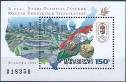 B3911b Hungary Summer Olympics Atlanta Architecture Coin Medal S/S MNH - Blocks & Kleinbögen