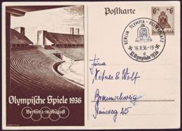 Germany - 1936 Z - Olympic Games 1936 - Stationery Card  (Olympia Reiterplatz) - Sommer 1936: Berlin