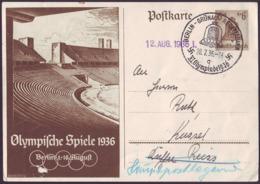 Germany - 1936 Zh - Olympic Games 1936 - Stationery Card  (Grunau - Regattabahn) - Estate 1936: Berlino