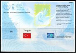 XC1009 Turkey 2019 International Reply Coupon Flag, Etc. 1V MNH - 1921-... Repubblica