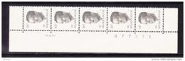BELGIQUE COB 2352 ** MNH BANDE DE 5 DATEE 19.XII.89, GOMME VERTE. (4TJ41) - 1981-1990 Velghe