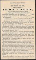 Elversele, Sint-Niklaas, 1939, Irma Laget, - Andachtsbilder