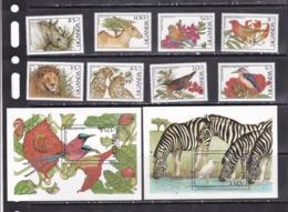 Uganda 1987 Birds Wild Animals Etc Set+2s/s MNH - Mundo Aquatico