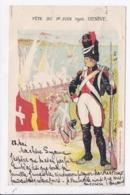 CP ILLUSTRATION SUISSE GENEVE Fête Du 1er Juin 1900 - GE Genf