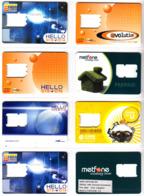 Kambodscha - Cambodia - 28 Diff. GSM-Karten OHNE Chip Gem. Scan - Kambodscha