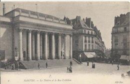 Carte Postale Ancienne De Nantes Le Théatre Et La Rue Crébillon - Nantes