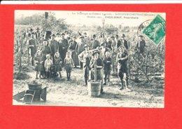 33 SAINT SULPICE CAMEYRAC Cpa Animée Vendange Au Chateau Lagraula Octobre 1907 Cheze Senut Edit Perrenoud - Altri Comuni