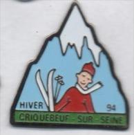 Ville De Criquebeuf Sur Seine , Classe De Neige 94 , Eure - Ciudades