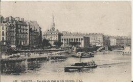 Carte Postale Ancienne De Nantes Vue Prise Du Quai De L'Ile Gloriette - Nantes