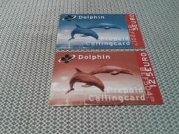 Belgium - 2 Nice Phonecards Dolphins - Belgio