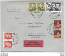 33 - 97 - Enveloppe Expres Envoyée De Thun - Série Pro Juventute 1927 - Pro Juventute