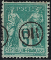 SAGE - N° 75 - OBLITERATION -  CACHET OR - ORIGINE RURALE. - Marcofilia (Sellos Separados)
