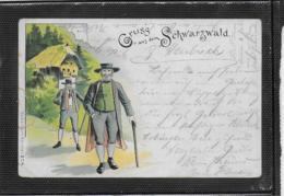 AK 0354  Gruss Aus Dem Schwarzwald ( Trachten ) - Lithographie Um 1898 - Costumi