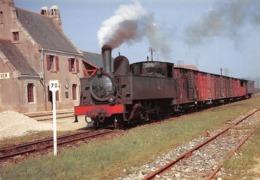 Arrivée D'un Train à Vapeur En Gare De PLOMODIERN-PLOEVEN - Ligne Châteaulin à Camaret - Photo Jacques Bazin - Plomodiern