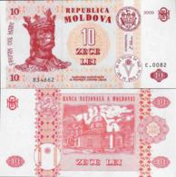 Moldova 2009 - 10 Lei - Pick 10 UNC - Moldavië