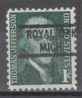 USA Precancel Vorausentwertung Preo, Locals Michigan, Royal Oak 821 - Vereinigte Staaten