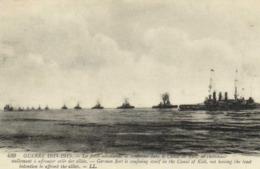 Guerre 1914 1915 La Flotte Allemande Se Renferme Dans Le Canal De Kiel Ne Cherchant Nullement à Affronter Les Alliés RV - Guerre 1914-18
