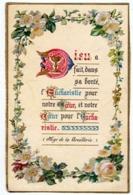 IMAGE DE COMMUNION DES ANNÉES 50 [ MGR DE LA BOULLERIE ENLUMINURE ] (1065)_D277 - Andachtsbilder