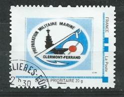 57 TPAM - TIMBRE PERSONNALISÉ OBLITÉRÉ -  PREPARATION MILITAIRE MARINE - CLERMONT FERRAND (PORTE AVIONS) - France