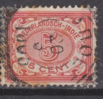 Nederlands Indie Dutch Indies 46 TOP CANCEL GAROET Cijfer 1902 ; NETHERLANDS INDIES PER PIECE - Nederlands-Indië