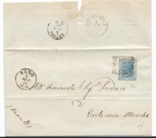 DA FANO A CIVITANOVA MARCHE  4.8.1871. - Storia Postale