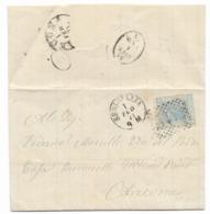 DA SENIGALLIA A ANCONA  1.2.1871. - Storia Postale