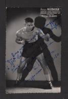 Photo Dédicacée Du Boxeur Adolphe NEUBAUER . Chaompion De France Amateur 1946 . - Sports