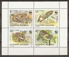 ANIMALES - BULGARIA 1989 - Yvert #3231/34 - MNH ** - Bats