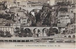 MONACO : Le Pont Et Le Viaduc Ste Dévote - Le Ravin( 1924) - Mónaco