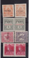 # Z.10667 Italy, Fiume 1918 Lot Of Hungarian 8 Stamps Overpr, MNH, MLH, Michel 1 - 4, 26: Newspaper, War Chari - Fiume