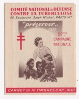 CARNET 10 TIMBRES Comité National De Défense Contre La Tuberculose Vous Guerir Publicité Nestlé Au Dos - Erinnophilie