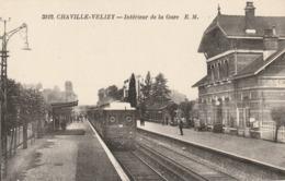 CPA CHAVILLE VELIZY 92 - Intérieur De La Gare - Chaville