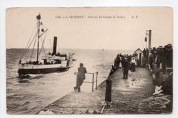 - CPA CARTERET (50) - Arrivée Du Bateau De Jersey (belle Animation) - Edition G. F. 4568 - - Carteret