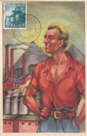 Carte Maximum  - Chemical Industry / Industrie Chimique - Timbre N° 761 - 1954 - Maximum Cards