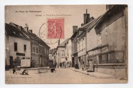 - CPA VERTUS (51) - Place De La Grande Fontaine 1905 (avec Personnages) - Edition Fayet-Benoist - - Vertus