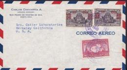 Costa Rica1940VoyagéLettre San Jose Berkeley Y&T173-184 - Costa Rica