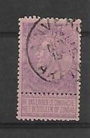 België  N° 66  Cote 65 Euro - 1893-1900 Schmaler Bart