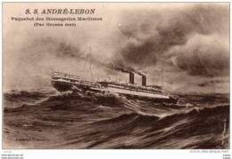S.S ANDRE-LEBON  Paquebot Des Messageries Maritimes(Par Grosse Mer) - Paquebots