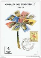 VERONA:  4.12.1966  GIORNATA  DEL  FRANCOBOLLO  -  CARTOLINA  UFFICIALE  DELLA  MANIFESTAZIONE  -  N° 259  -  FG - Giornata Del Francobollo