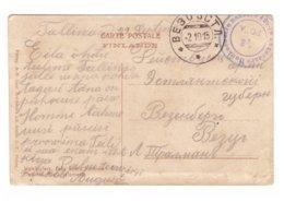 Russia,Finland,WWI Fieldpost To Estonia - Lettres & Documents