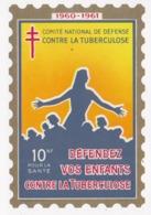 VIGNETTE  Comité National De Défense Contre La Tuberculose Defendez Vos Enfants  Grand Format - Cinderellas