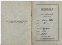 Dt.- Reich (002782) Propaganda Hitlerjugend Schießbuch Für Kleinkalieber Ohne Eintragungen, Sehr Sehr Selten!! - Allemagne