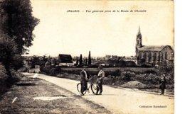 JALLAIS Vue Générale Prise De La Route De Chemillé  Circulée 1925 - Otros Municipios