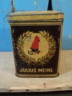 Rare Et Ancienne Boite Publicitaire Café Julius Meinl Tin Box Coffee - Boîtes